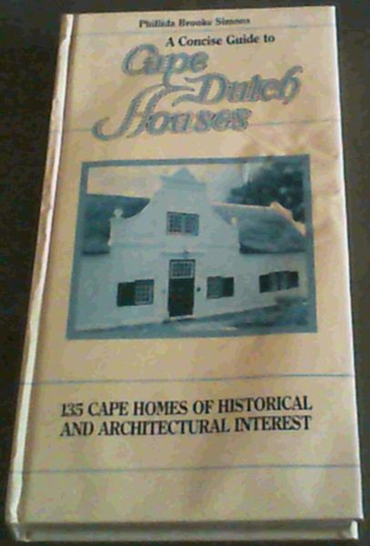 Image for Cape Dutch houses: A concise guide
