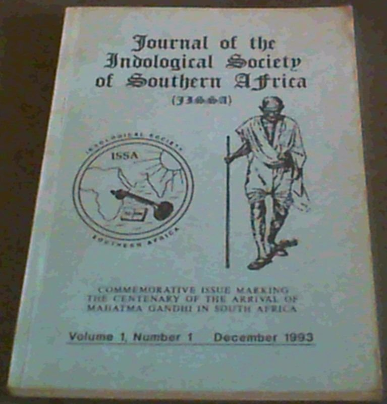 Image for Journal of the Indological Society of Southern Africa (JISSA) Volume 1 Number 1 , December 1993
