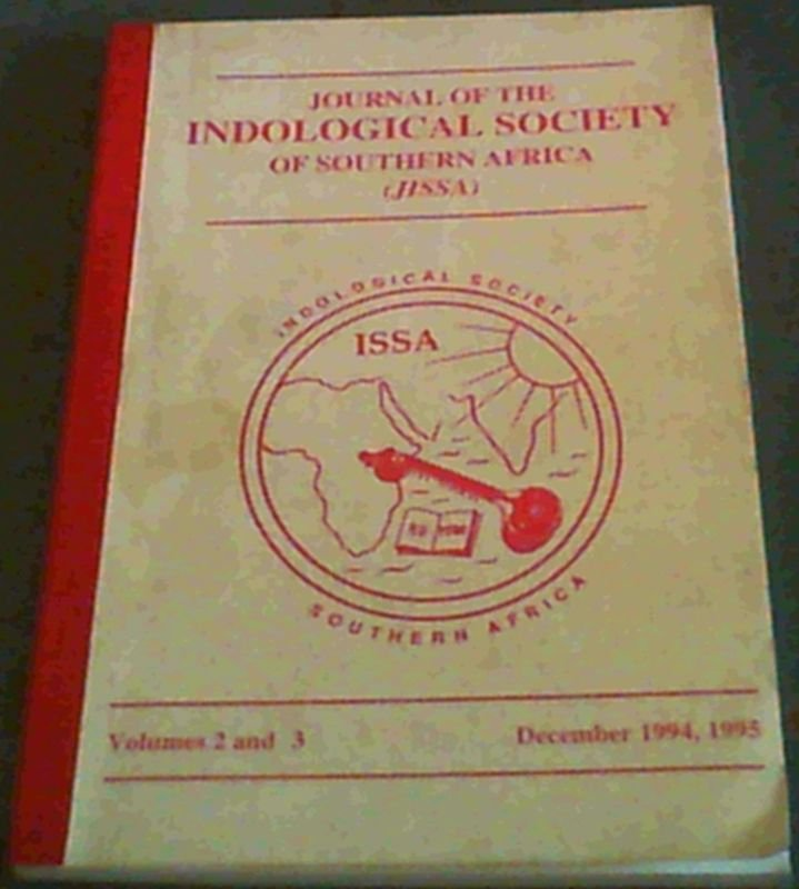 Image for Journal of the Indological Society of Southern Africa (JISSA) Volume 2 and 3 , December 1994, 1995