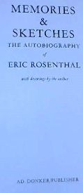 Image for Memories & Sketches: The Autobiography of Eric Rosenthal