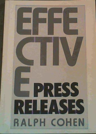 Image for Effective Press Releases