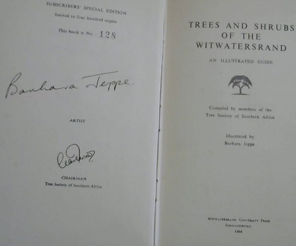 Image for Trees and Shrubs of the Witwatersrand - an illustrated guide