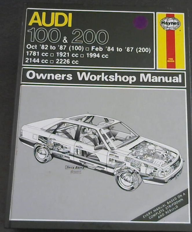 Image for Audi 100 1982-87 and 200 1984-87 Owner's Workshop Manual