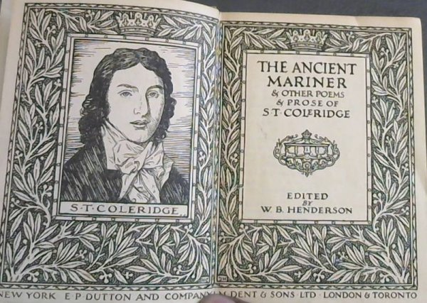 Image for The  Ancient  Mariner  &  Other  Poems  &  Prose  Of  S. T. Coleridge