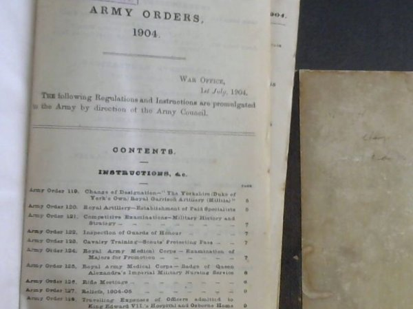 Image for Army Orders 1904 - 2 Volumes