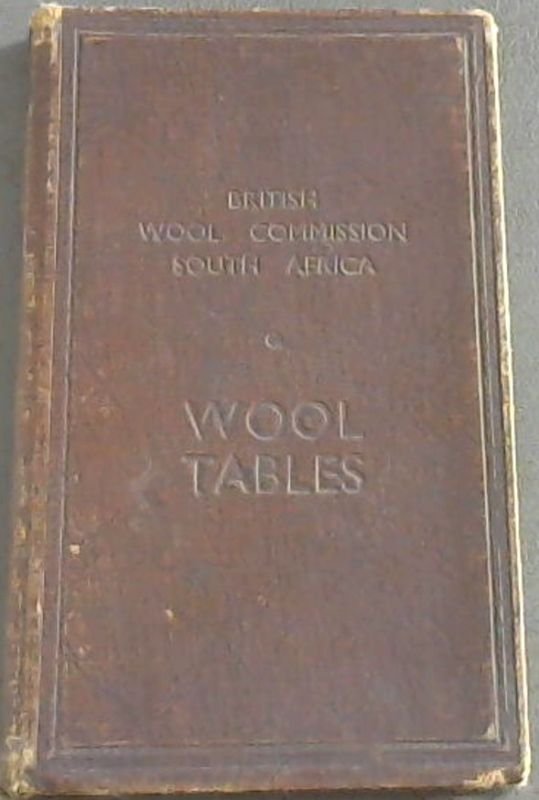Image for Wool Tables - British Wool Commission South Africa