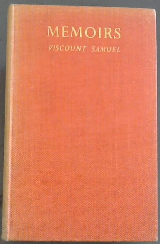 Image for Memoirs  Of  Viscount  Samuel