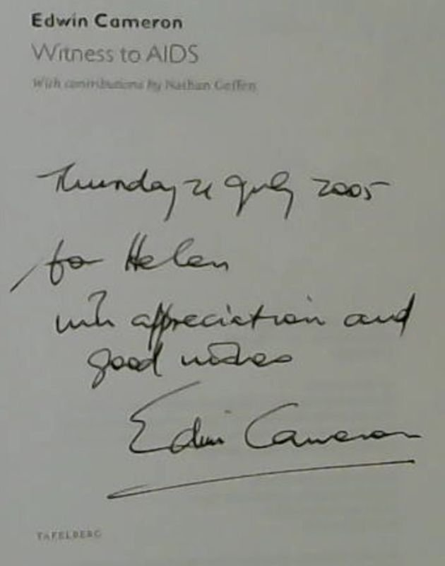 Image for Edwin Cameron: Witness to AIDS