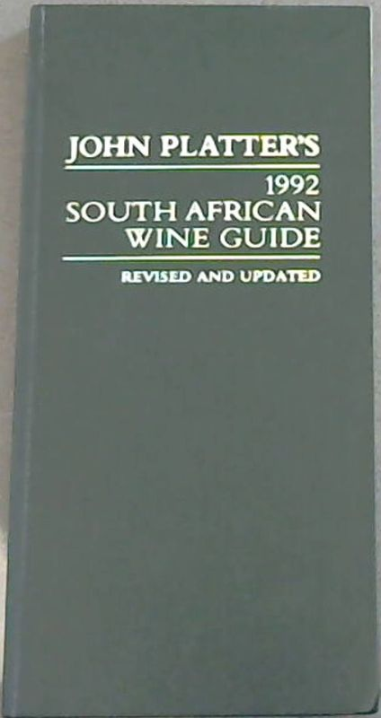 Image for John Platter's South African Wine Guide 1992