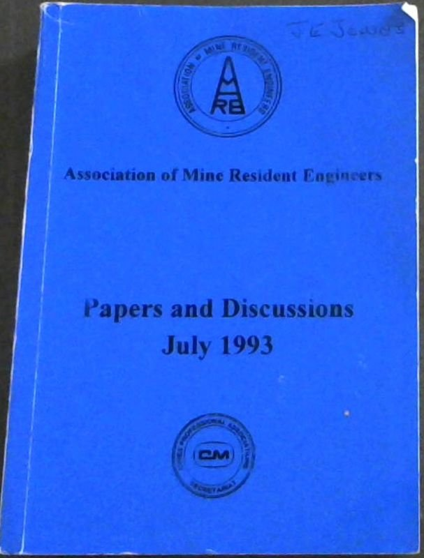 Image for Papers and Discussions - July 1993