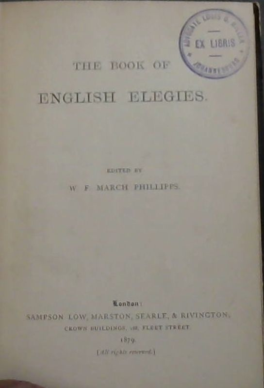 Image for The Book of English Elegies