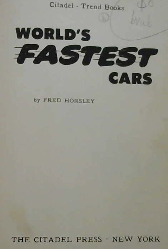 Image for World's Fastest Cars