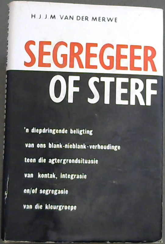 Image for Segregeer  Of  Sterf