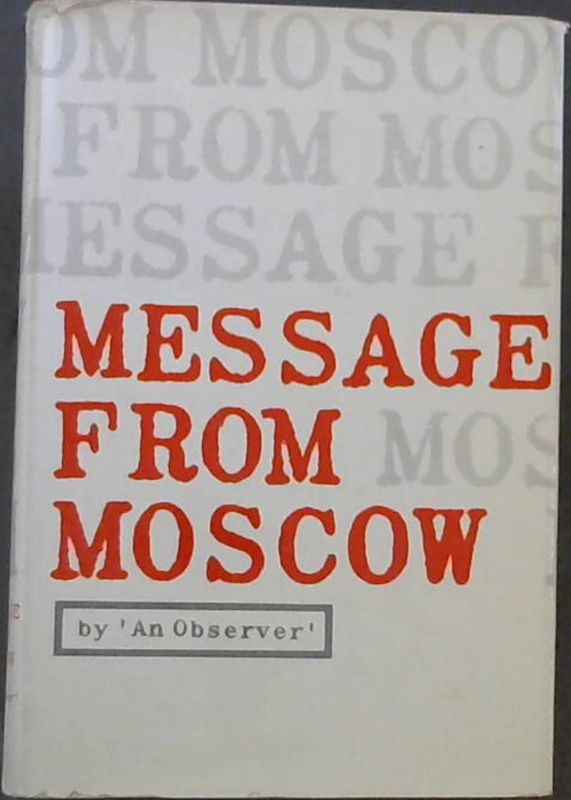 Image for Message from Moscow