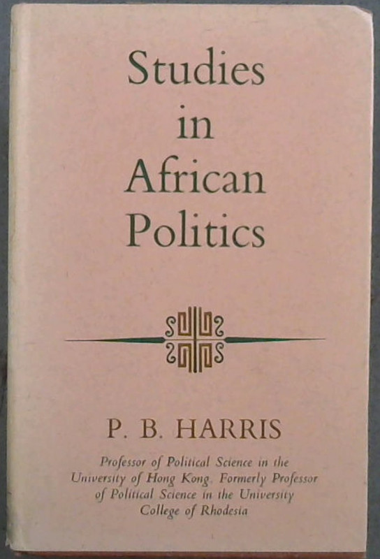 Image for Studies in African Politics