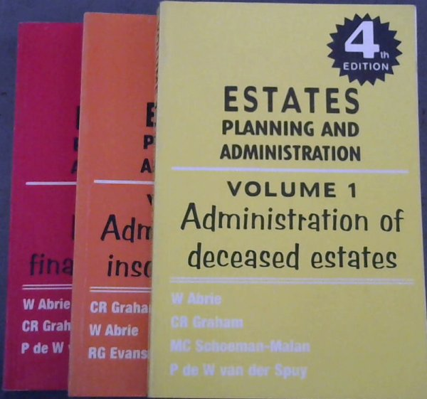 Image for Estates Planning and Administration - 3 volumes