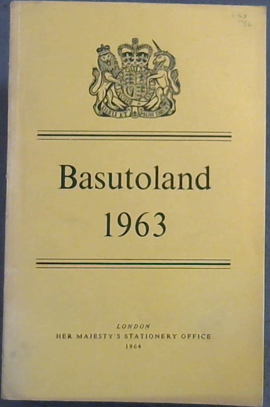 Image for Basutoland : Report for the year 1963