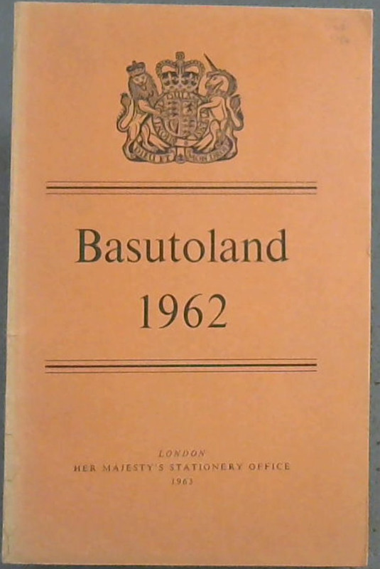 Image for Basutoland : Report for the year 1962