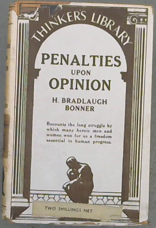Image for Penalties Upon Opinion ; or some records of the laws of heresy and blasphemy