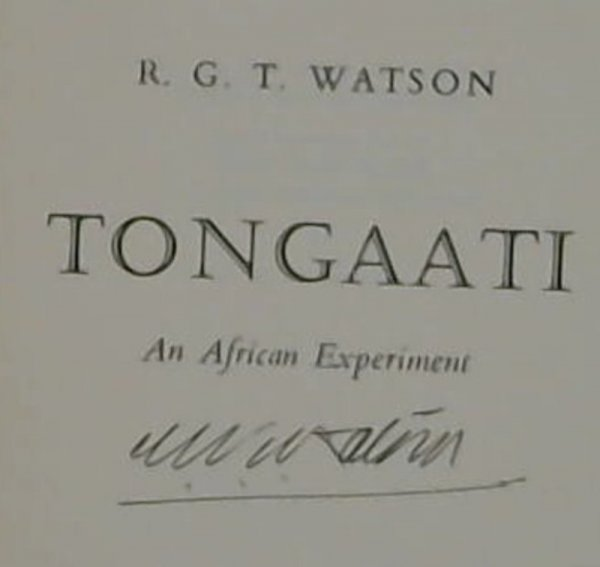 Image for Tongaati  An African Experiment