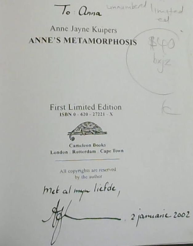 Image for Anne's Metamorphosis