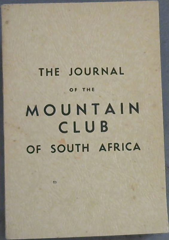 Image for The Journal of The Mountain Club of South Africa - being number forty-five for the year 1942
