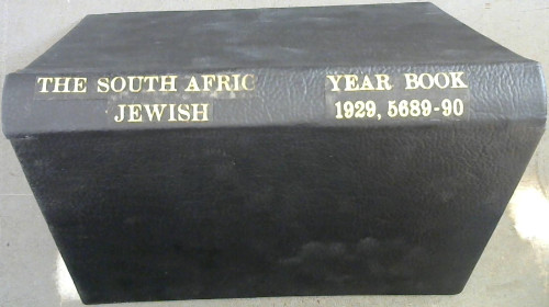 Image for The South African Jewish Year Book. Directory of Jewish Organisations and Who's Who in South African Jewry 1929, 5689-90