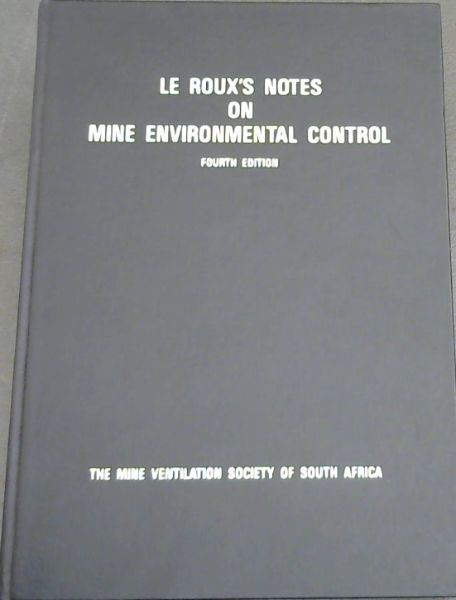 Image for Le Roux's Notes on Mine Environmental Control
