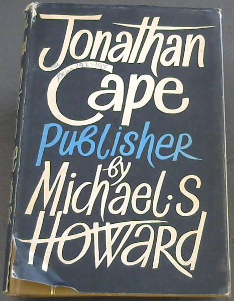 Image for Jonathan Cape, Publisher