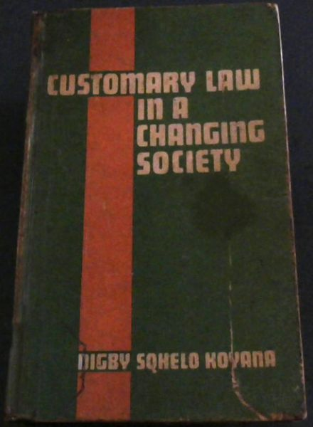 Image for Customary Law in a Changing Society