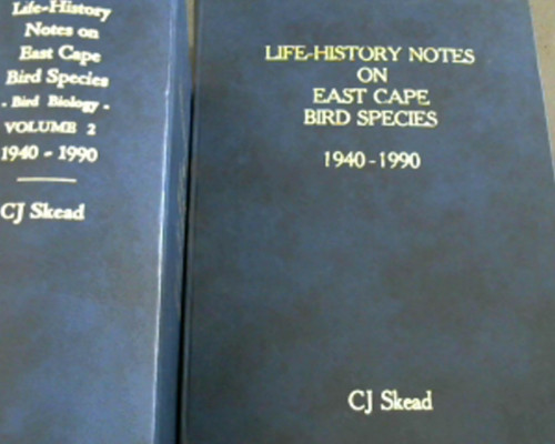 Image for Life-History Notes on East Cape Bird Species: 1940-1990 - 2 Vols