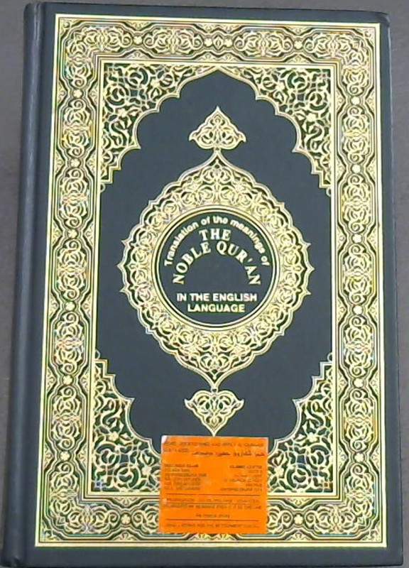 Image for Translation of the meanings of The Noble Qur'an in the English Language