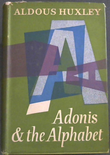 Image for Adonis and the Alphabet