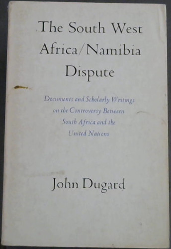Image for The South West Africa/Namibia Dispute