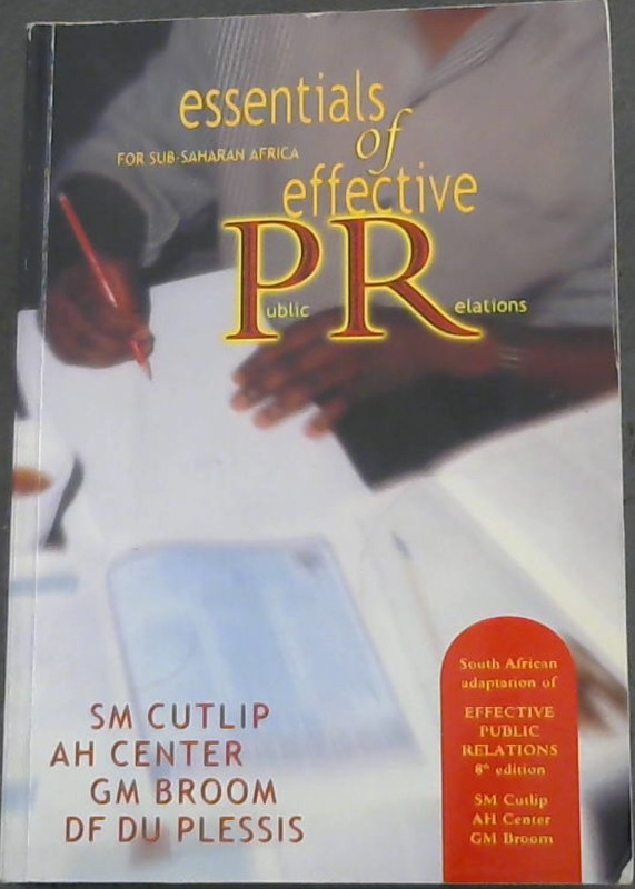 Image for Essentials of Effective Public Relations: For Sub-Shaharan Africa