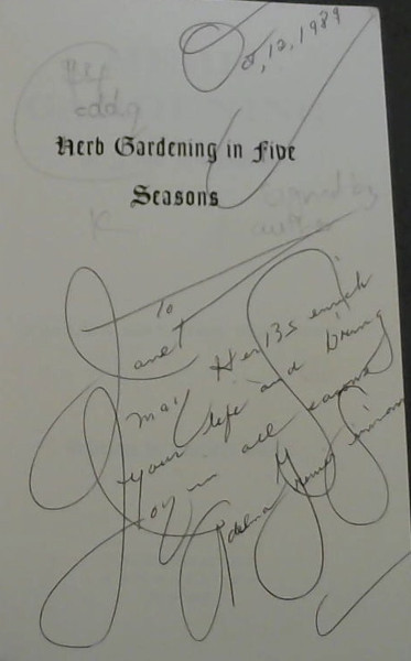Image for Herb Gardening in Five Seasons