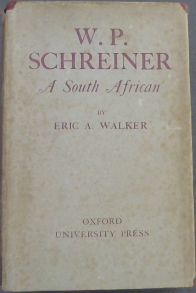 Image for W P Schreiner : A South African