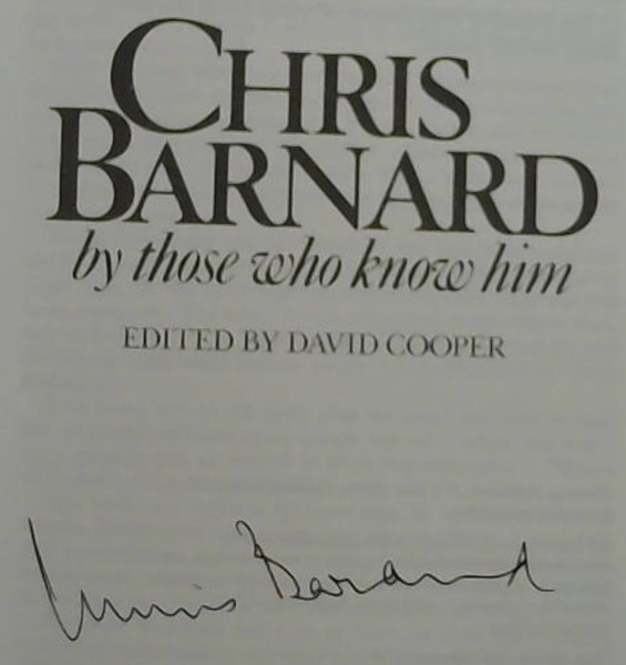 Image for Chris Barnard: By those who know him