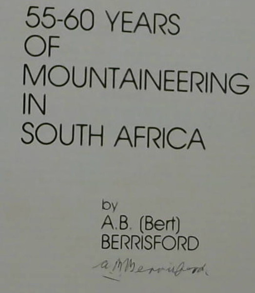 Image for 55-60 Years of Mountaineering in South Africa
