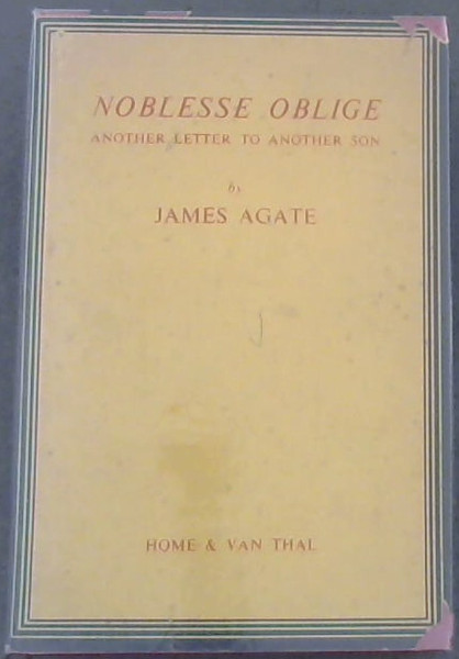Image for Noblesse Oblige :Another Letter to Another Son