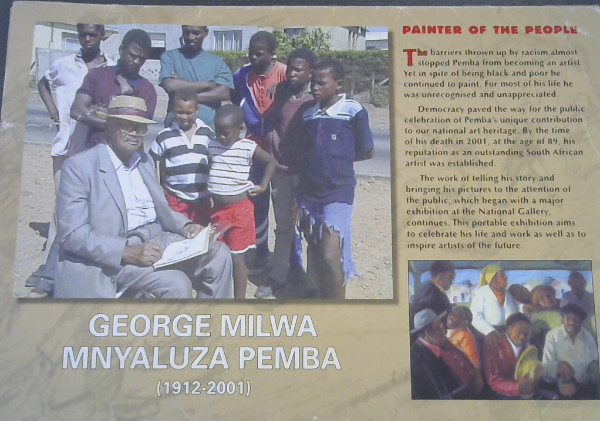 Image for George Milwa Mnyaluza Pemba (1912-2001) : Painter of the People (Portable exhibition)