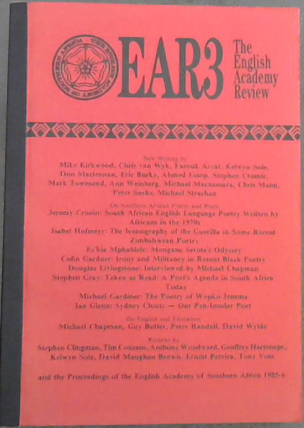 Image for EAR3 : The English Academy Review Vol 3 - 1985