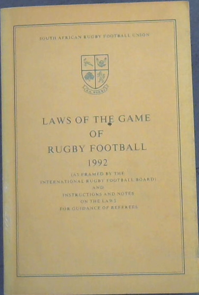 Image for Laws of the Game of Rugby Football