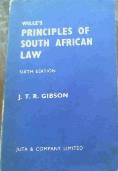 Image for Wille's Principles of South African Law