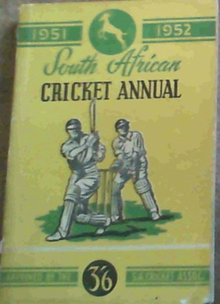 Image for South African Cricket Annual 1951 - 1952 Volume 1