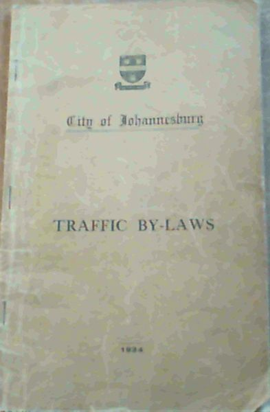 Image for City / Municipality of Johannesburg Traffic By-Laws