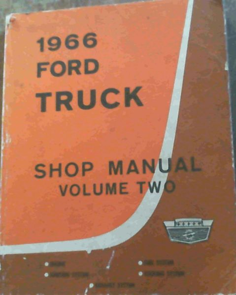 Image for 1966 Ford Truck Shop Manual Volume Two