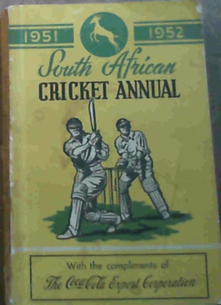 Image for South African Cricket Annual 1951 - 52 Volume 1