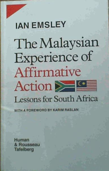Image for The Malaysian Experience of Affirmative Action: Lessons for South Africa