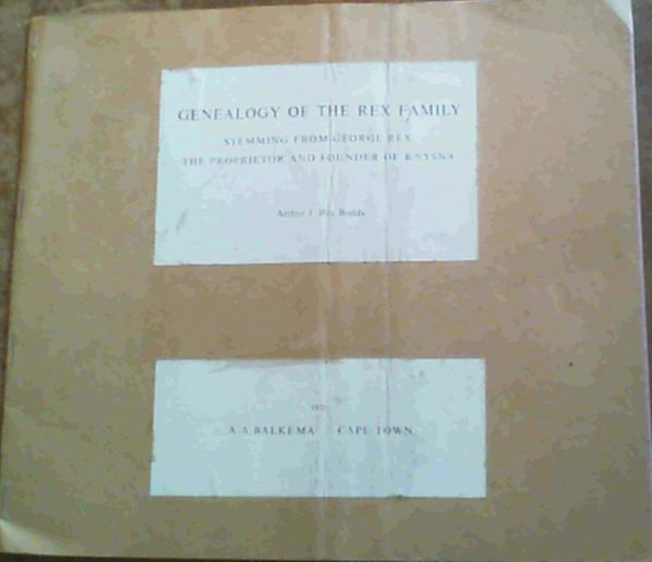 Image for Genealogy of the Rex Family